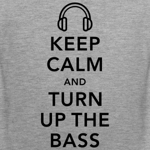 keep calm and turn up the bass muziek Tanktops - Mannen Premium tank top
