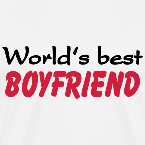 World's best Boyfriend T-shirts - Herre premium T-shirt