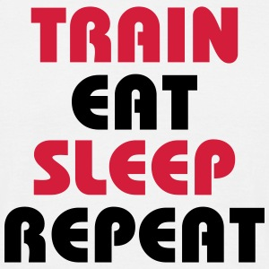 Train Eat Sleep Repeat Tee shirts - T-shirt Homme