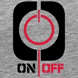 On Off magt symbolet Logo T-shirts - Herre premium T-shirt