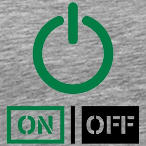På Off Power Schalter Design T-shirts - Herre premium T-shirt