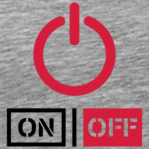 Off On Power Schalter Design T-Shirts - Men's Premium T-Shirt