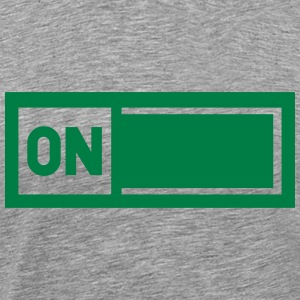 On off on off power switch T-Shirts - Men's Premium T-Shirt