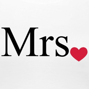 Mrs with heart dot (Mr and Mrs set) T-Shirts - Women's Premium T-Shirt