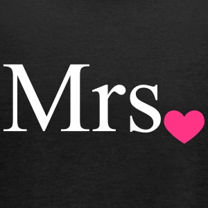 Mrs with heart dot (Mr and Mrs set) Tops - Women's Tank Top by Bella