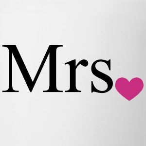 Mrs with heart dot (Mr and Mrs set) Bottles & Mugs - Mug