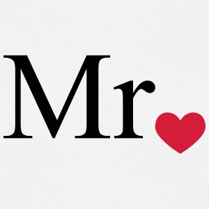 Mr with heart dot (Mr and Mrs set) T-Shirts - Men's T-Shirt