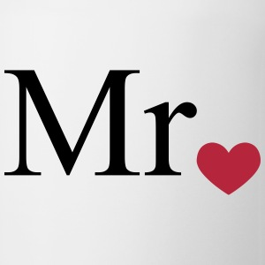 Mr with heart dot (Mr and Mrs set) Bottles & Mugs - Mug