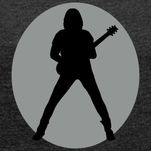 guitarist T-Shirts - Women's T-shirt with rolled up sleeves