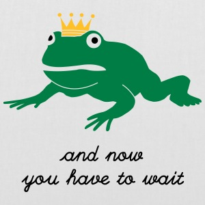 grumpy frog prince - waiting Bags & Backpacks - Tote Bag