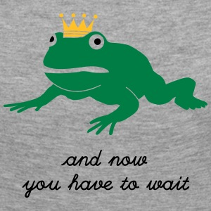 grumpy frog prince - waiting Long Sleeve Shirts - Women's Premium Longsleeve Shirt