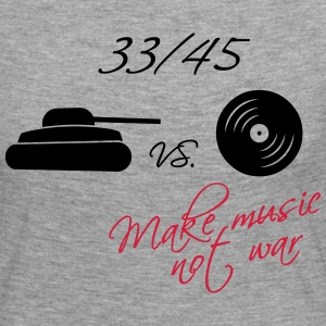33  / 45 - make music not war Skjorter med lange armer - Premium langermet T-skjorte for kvinner