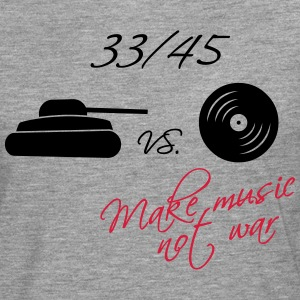 33  / 45 - make music not war Langarmshirts - Männer Premium Langarmshirt