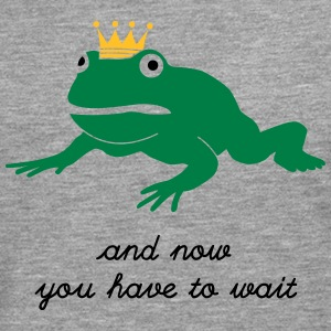 grumpy frog prince - waiting Long sleeve shirts - Men's Premium Longsleeve Shirt