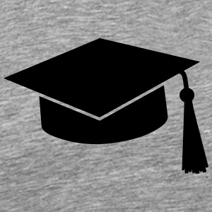 graduation hat T-shirts - Herre premium T-shirt