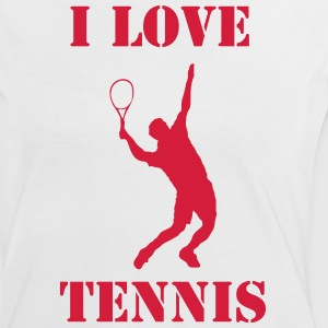 I love Tennis - Frauen Kontrast-T-Shirt