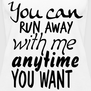 RUN AWAY - Frauen Premium Tank Top