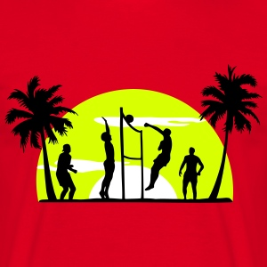 beachvolleyball, volleyball  T-Shirts - T-shirt herr