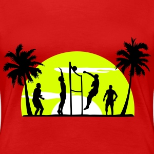 beach volleyball, volleyball  T-Shirts - Dame premium T-shirt