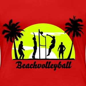 beach volleyball, volleyball  T-Shirts - Women's Premium T-Shirt