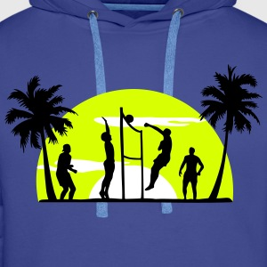 volley-ball, beach-volley - Sweat-shirt à capuche Premium pour hommes