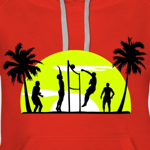 beach volleyball, volleyball  Pullover & Hoodies - Dame Premium hættetrøje