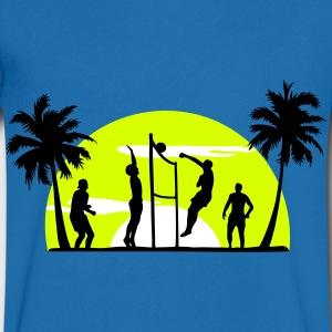 beach-volley-, volleyball  - T-shirt Homme col V
