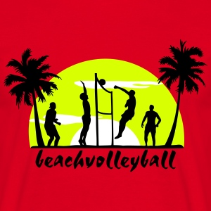 beach volleyball, volleyball  T-Shirts - Men's T-Shirt