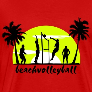 beach volleyball, volleyball  T-Shirts - Premium-T-shirt herr