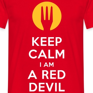keep calm i am a red devil - Mannen T-shirt