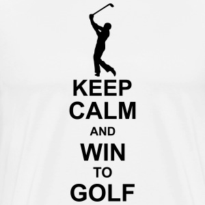 keep_calm_and_win_to_golf_g1 T-Shirts - Men's Premium T-Shirt