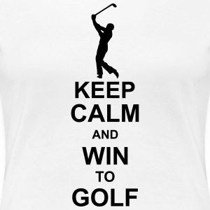 keep_calm_and_win_to_golf_g1 T-shirts - Vrouwen Premium T-shirt