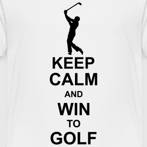 keep_calm_and_win_to_golf_g1 Skjorter - Premium T-skjorte for tenåringer