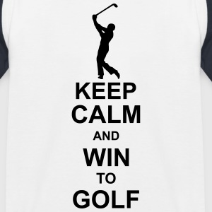 keep_calm_and_win_to_golf_g1 Camisetas - Camiseta béisbol niño