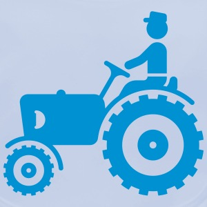Farmer With Tractor Accessories - Baby Organic Bib