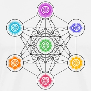 Metatrons Cube, Chakras, Cosmic Energy Centers,  Tee shirts - T-shirt Premium Homme