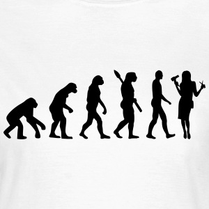 Evolution Friseur T-Shirts - Frauen T-Shirt