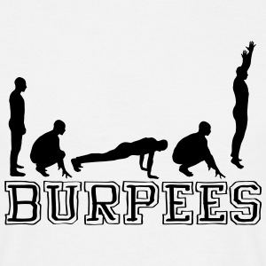 Burpees (Silhouette) T-shirts - Herre-T-shirt