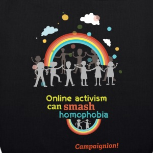 Smash homophobia dark Bags & Backpacks - EarthPositive Tote Bag