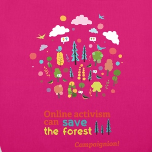 Save the forest dark Bags & Backpacks - EarthPositive Tote Bag