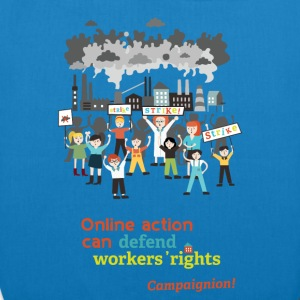 Workers' rights light Bags & Backpacks - EarthPositive Tote Bag