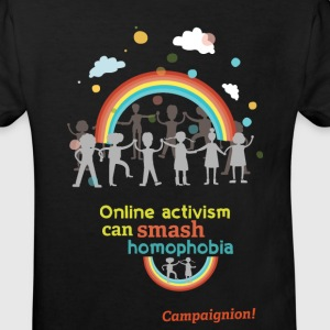 Smash homophobia Kid black - Kinder Bio-T-Shirt
