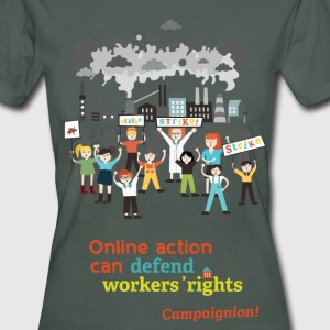 Workers' rights light T-Shirts - Frauen Bio-T-Shirt