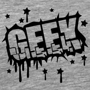 Geek Zerbrochenes Graffiti Design T-Shirts - Men's Premium T-Shirt
