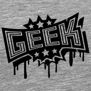 Geek Stempel Graffiti T-Shirts - Men's Premium T-Shirt