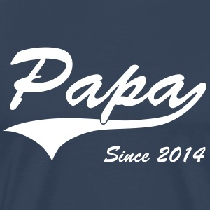 Papa Since 2014 T-Shirts - Men's Premium T-Shirt