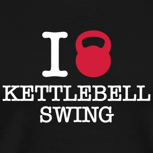 I (Love) Kettlebell Swing T-Shirts - Men's Premium T-Shirt