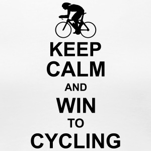 keep_calm_and_win_to_cycling T-skjorter - Premium T-skjorte for kvinner