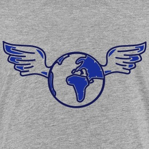 earth with wings Shirts - Teenage Premium T-Shirt
