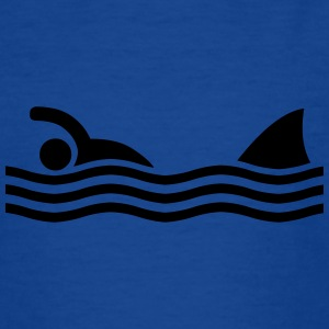 swimmer with shark Shirts - Teenage T-shirt